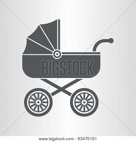 Pram (baby carriage) icon