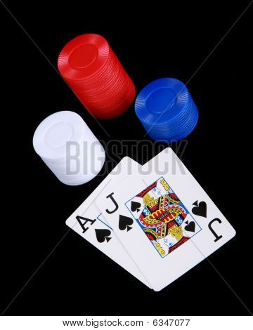 Black Jack And Poker Chips