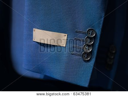 Jacket Sleeve With A Label