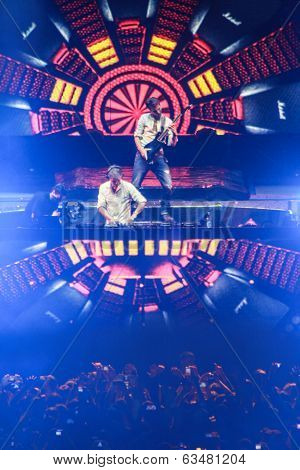 MINSK, BELARUS - FEBRUARY 21: Members of ARMIN ONLY: Intense show with Armin van Buuren in Minsk-Are