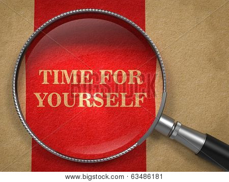 Time for Yourself Through Magnifying Glass.