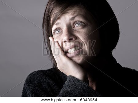 Woman With Toothache. Ouch!