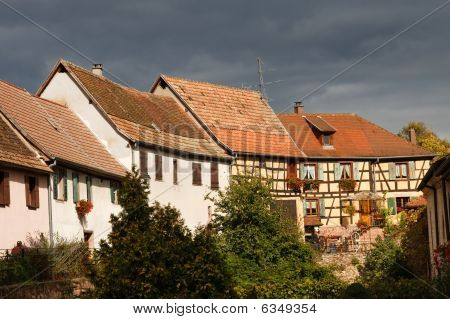 Traditional Half-timbered Architecture In Alsace, France