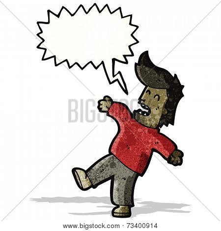 fainting man cartoon