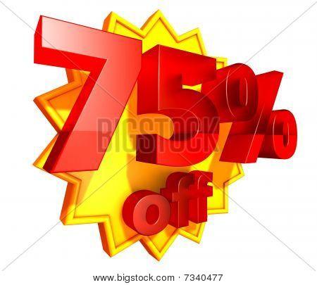 75 Percent price off