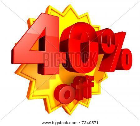 40 Percent price off