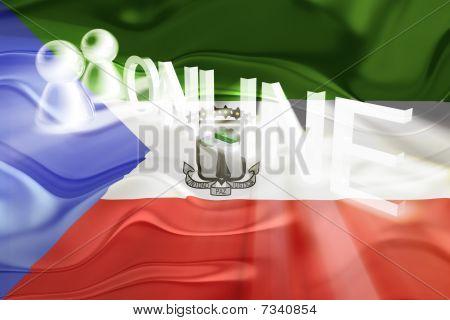 Flag Of Equatorial Guinea Wavy Online