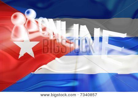 Cuba Flag Wavy Online