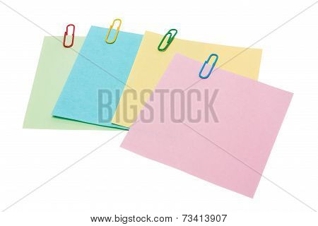 colorful sticker note with clip