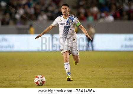 CARSON, CA - SEPT 28:  Robbie Keane during the Los Angeles Galaxy MLS game against the New York Red Bulls on Sept 28th 2014 at the StubHub Center.