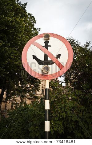 No Parking Sign For Vessels