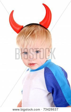 Baby With Devil Horns