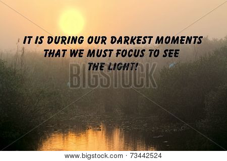 Quote on sunrise