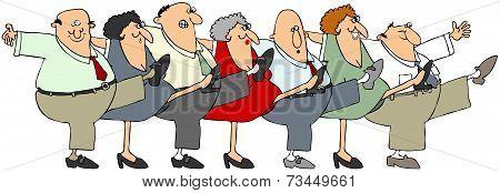 Senior citizen can-can