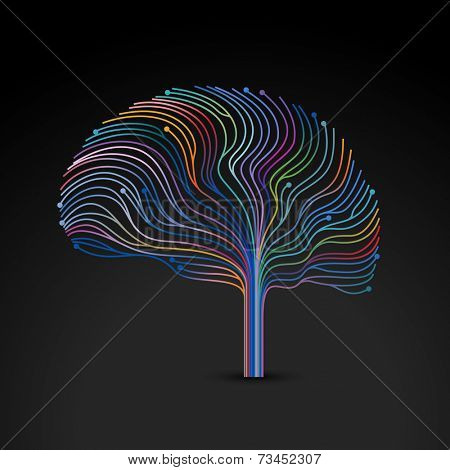 Creative concept of the human mind, vector illustration