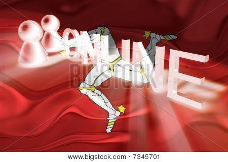 Flag Of Isle Of Man Wavy Online
