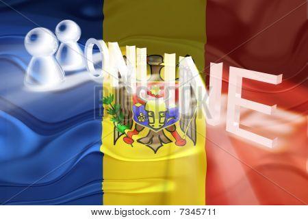 Flag Of Moldova Wavy Online