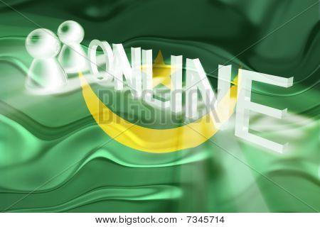 Flag Of Mauritania Wavy Online