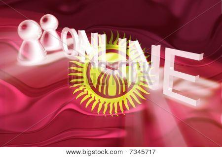 Flag Of Kyrgyzstan Wavy Online