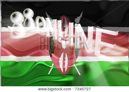 Flag Of Kenya Wavy Online