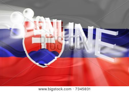 Flag Of Slovakia Wavy Online