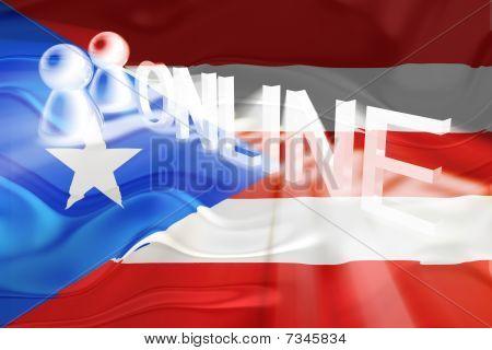 Flag Of Puerto Rico Wavy Online