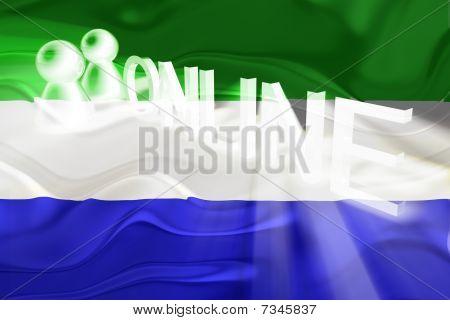 Flag Of Sierra Leone Wavy Online