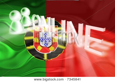 Flag Of Portugal Wavy Online