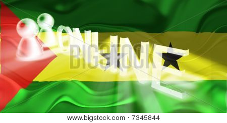 Flag Of Sao Tome And Principe Wavy Online