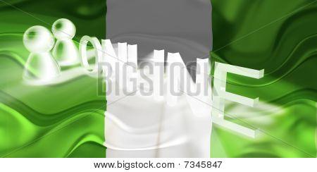 Flag Of Nigeria Wavy Online