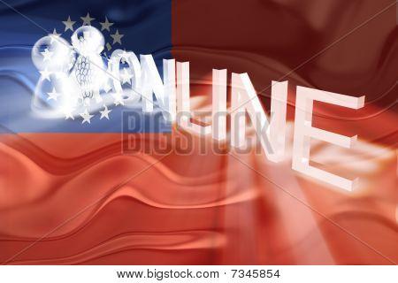 Flag Of Myanmar Wavy Online