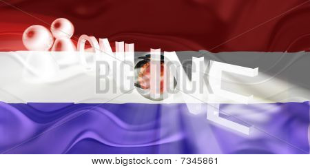 Flag Of Paraguay Wavy Online
