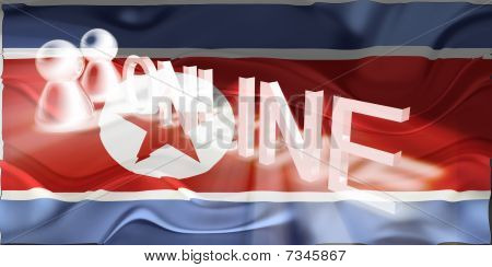 Flag Of North Korea Wavy Online