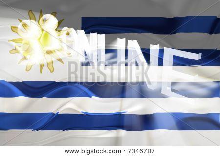 Flag Of Uruguay Wavy Online