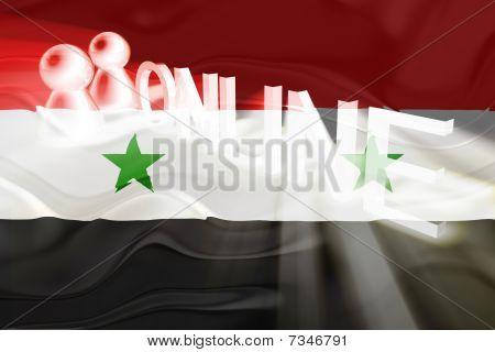 Flag Of Syria Wavy Online