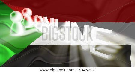 Flag Of Sudan Wavy Online