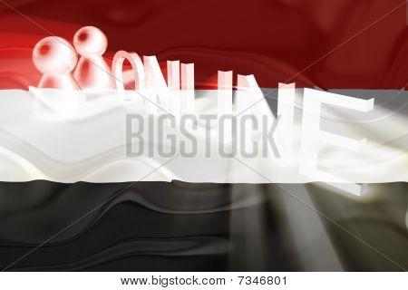 Flag Of Yemen Wavy Online