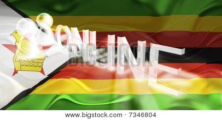 Flag Of Zimbabwe Wavy Online