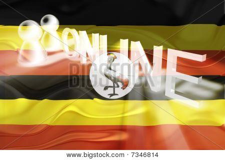 Flag Of Uganda Wavy Online