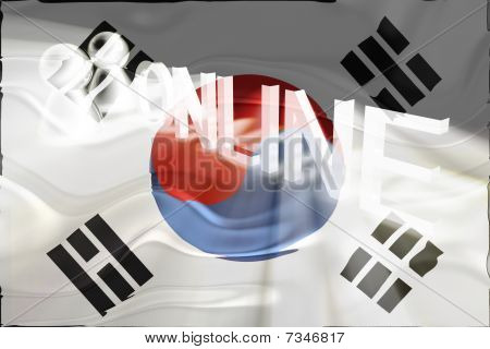 Flag Of South Korea Wavy Online