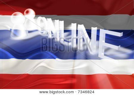 Flag Of Thailand Wavy Online