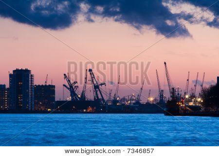 Port City At Night