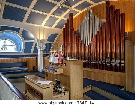 Organ Pipes In Iceland