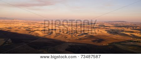 Rolling Hills Palouse Region Eastern Washington State Farmland