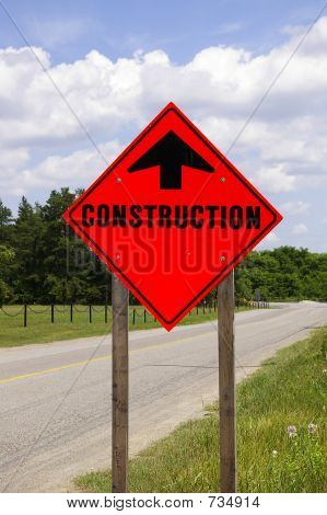 Organge Road Construction Sign