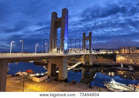 Recouvrance Bridge, Brest, France