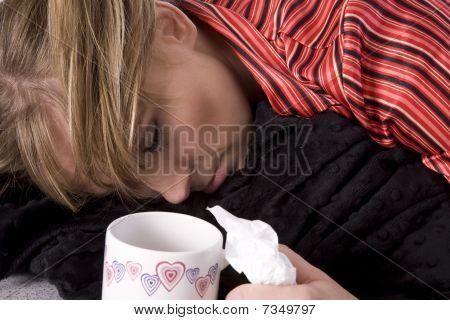 Sleeping Sick Woman