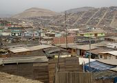 Shanty Town in Lima Peru South America poster