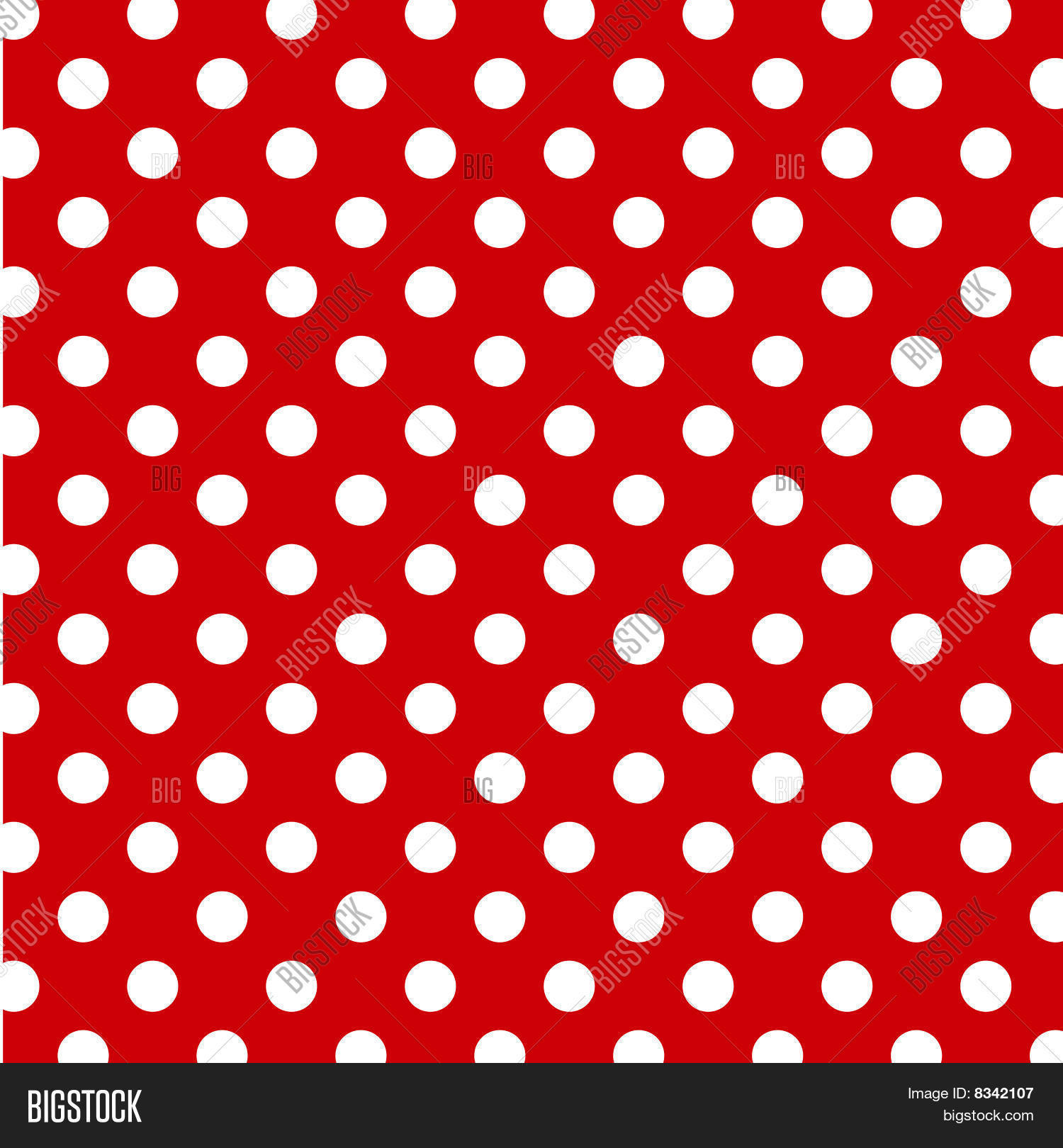 Seamless polka dot vector photo free trial bigstock for Red and white polka dot pattern