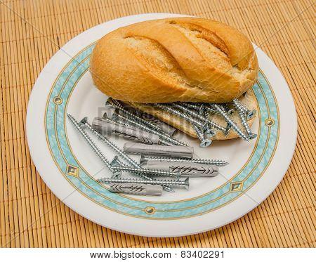 Screw And Dowel Sandwich